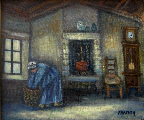 Yvette hamon artiste peintre scenes de la vie for Devant la fenetre